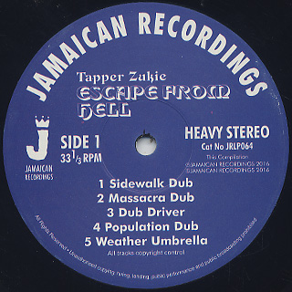 Tapper Zukie / Escape From Hell label