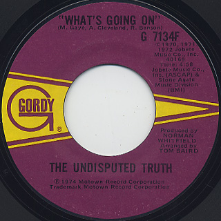 Undisputed Truth / What's Going On c/w Help Yourself