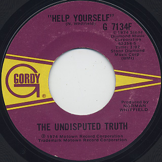 Undisputed Truth / What's Going On c/w Help Yourself back