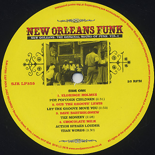 V.A. / New Orleans Funk Vol.4 (Voodoo Fire In New Orleans 1951-77) label