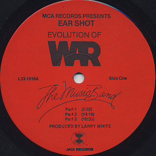 War / Evolution Of War - The Music Band label