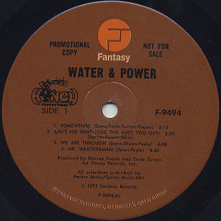 Water & Power / S.T. label