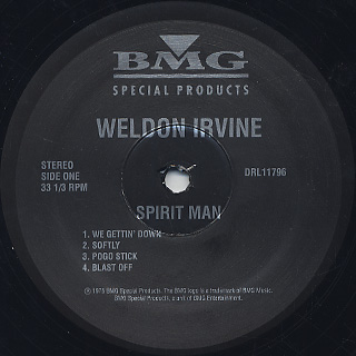 Weldon Irvine / Spirit Man label