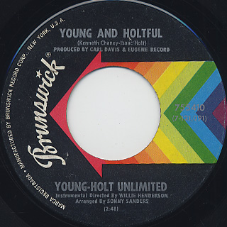 Young-Holt Unlimited / Just A Melody (45) back