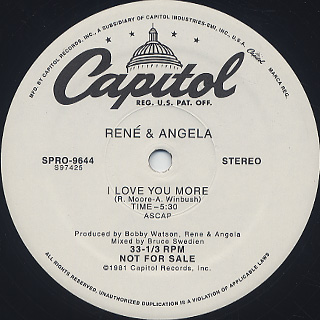 René & Angela / I Love You More