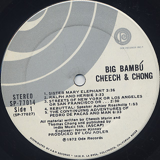 Cheech & Chong / Big Bambú label