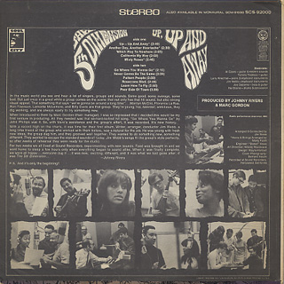 5th Dimension / Up - Up And Away back