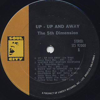 5th Dimension / Up - Up And Away label