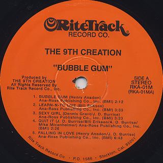 9th Creation / Bubble Gum label