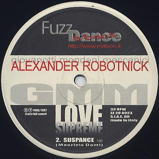 Alexander Robotnick / Don't Ask Me Why c/w Love Supreme back