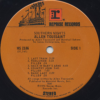 Allen Toussaint / Southern Nights label