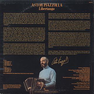 Astor Piazzolla / Libertango back