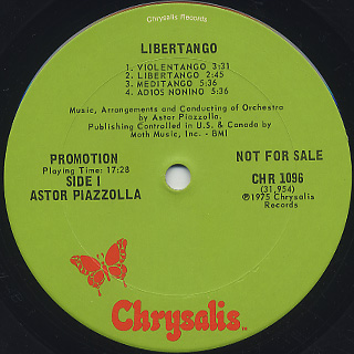 Astor Piazzolla / Libertango label