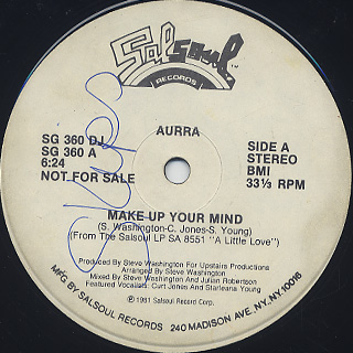 Aurra / Make Up Your Mind front