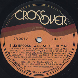 Billy Brooks / Windows Of The Mind label