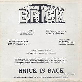 Brick / Dazz back