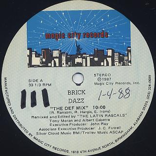 Brick / Dazz label