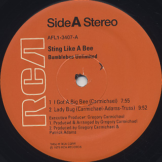Bumblebee Unlimited / Sting Like A Bee label