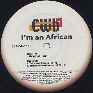 CWB / I'm An African front