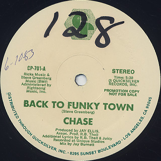 Chase / Back To Funky Town back