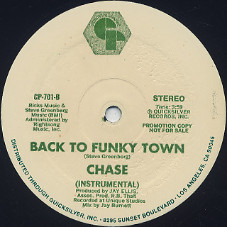 Chase / Back To Funky Town label