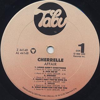 Cherrelle / Affair label