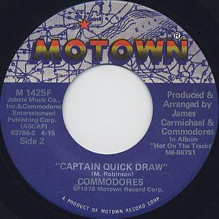 Commodores / Brick House c/w Captain Quick Draw back