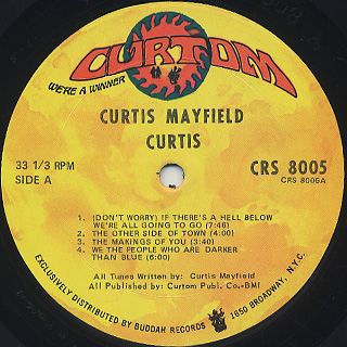 Curtis Mayfield / Curtis label