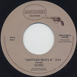 DJ Dez / Untitled Beats A c/w Untitled Beats B