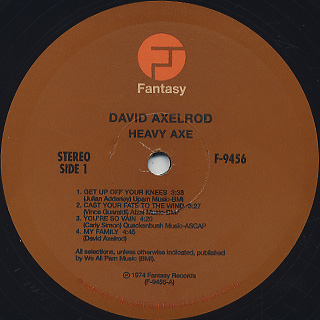 David Axelrod / Heavy Axe label