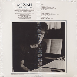 David Axelrod / Messiah back