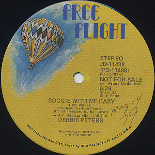Debbie Peters / Boogie With Me Baby back
