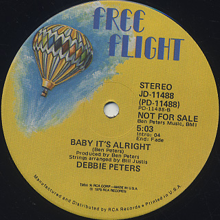Debbie Peters / Boogie With Me Baby label