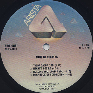 Don Blackman / S.T. label