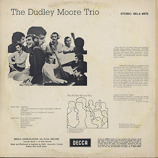 Dudley Moore Trio / S.T. back