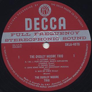 Dudley Moore Trio / S.T. label