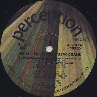 Fatback Band / People Music label