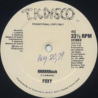 Foxy / RRRRRRock c/w Devil Boogie back