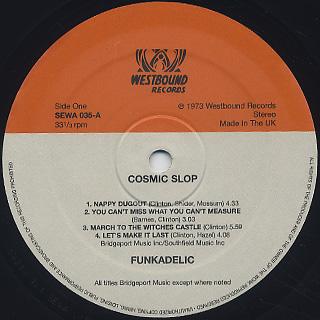 Funkadelic / Cosmic Slop label