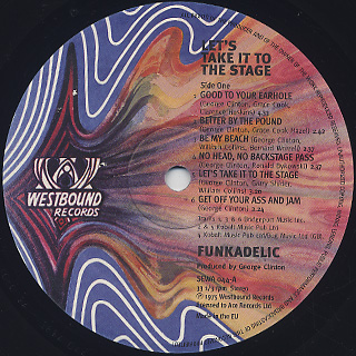 Funkadelic / Let's Take It To The Stage label