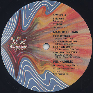 Funkadelic / Maggot Brain label