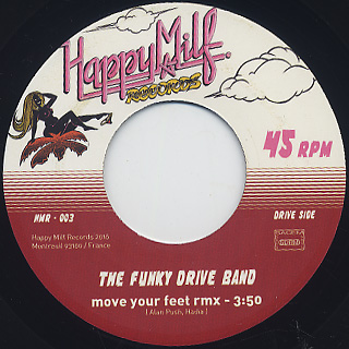 Funky Drive Band / Move Your Feet b/w Amadeo 85 / Drive Me Crazy(45) back