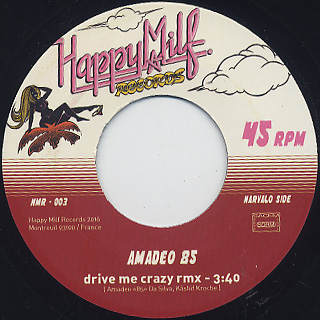 Funky Drive Band / Move Your Feet b/w Amadeo 85 / Drive Me Crazy(45) label