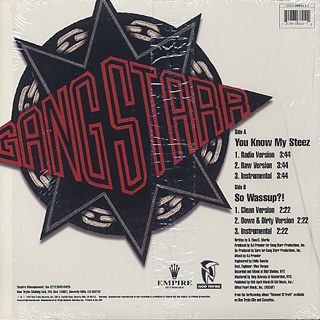 Gang Starr / You Know My Steez back
