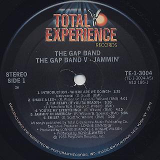 Gap Band / The Gap Band V - Jammin' label