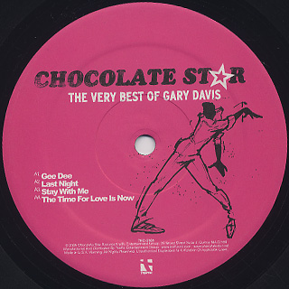 Gary Davis / Chocolate Star The Very Best Of Gary Davis label