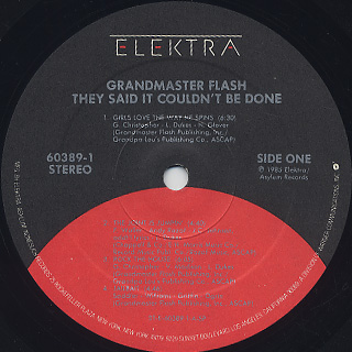 Grandmaster Flash / They Said It Couldn't Be Done label