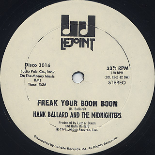 Hank Ballard And The Midnighters / Freak Your Boom Boom back
