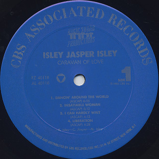 Isley Jasper Isley / Caravan Of Love label
