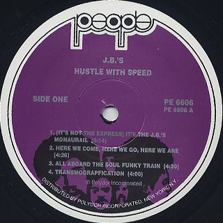J.B.'s / Hustle With Speed label